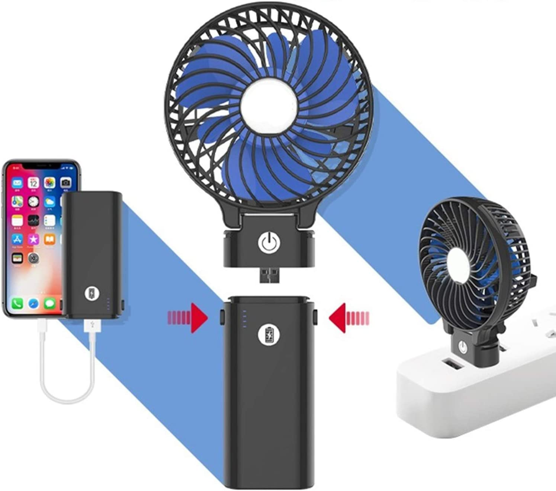 Color : White XIAOF-FEN Mini Foldable Fan USB Charging 3 Gear Wind Electric Fan Outdoor Cooling Personal Fans USB Fan