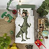 Dinosaur Duvet Cover Set with Matching Pillowcase by SNURK - Twin