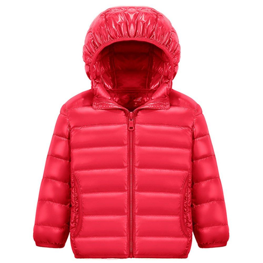 KINDOYO Boy's Girls Unisex Kids Warm Winter Down Jacket Outerwear Hooded Coat