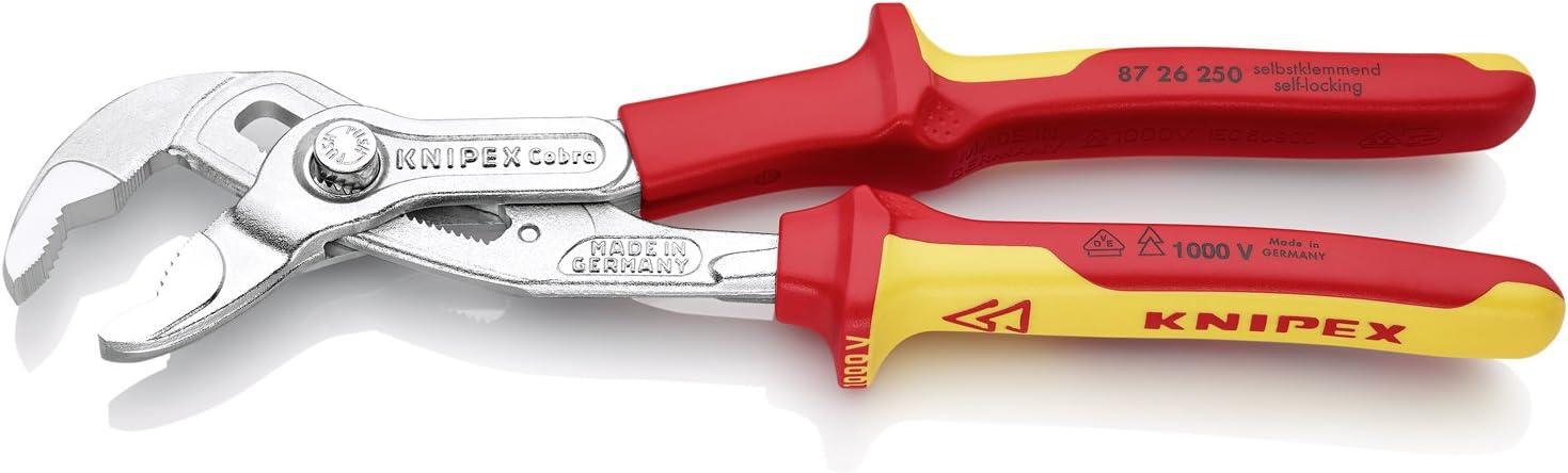 Knipex 87 Hightech-Wasserpumpenzange Cobra versch Längen und Griffe zur Auswahl