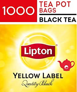 Lipton Yellow Label Quality Black, Tea Pot Bags, 1000 Pieces, Yellow Label Quality