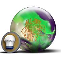 Roto-Grip All Out Show Off Bowling Ball, Purple/Neon Green/White, 13lb