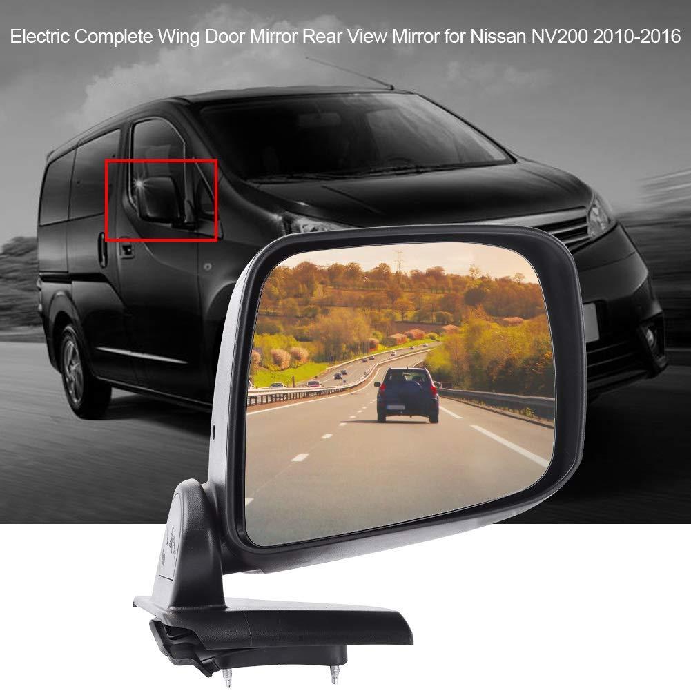 derecho lado del pasajero KIMISS Espejo retrovisor de espejo retrovisor de puerta completa el/éctrica para NV200 2010-2016