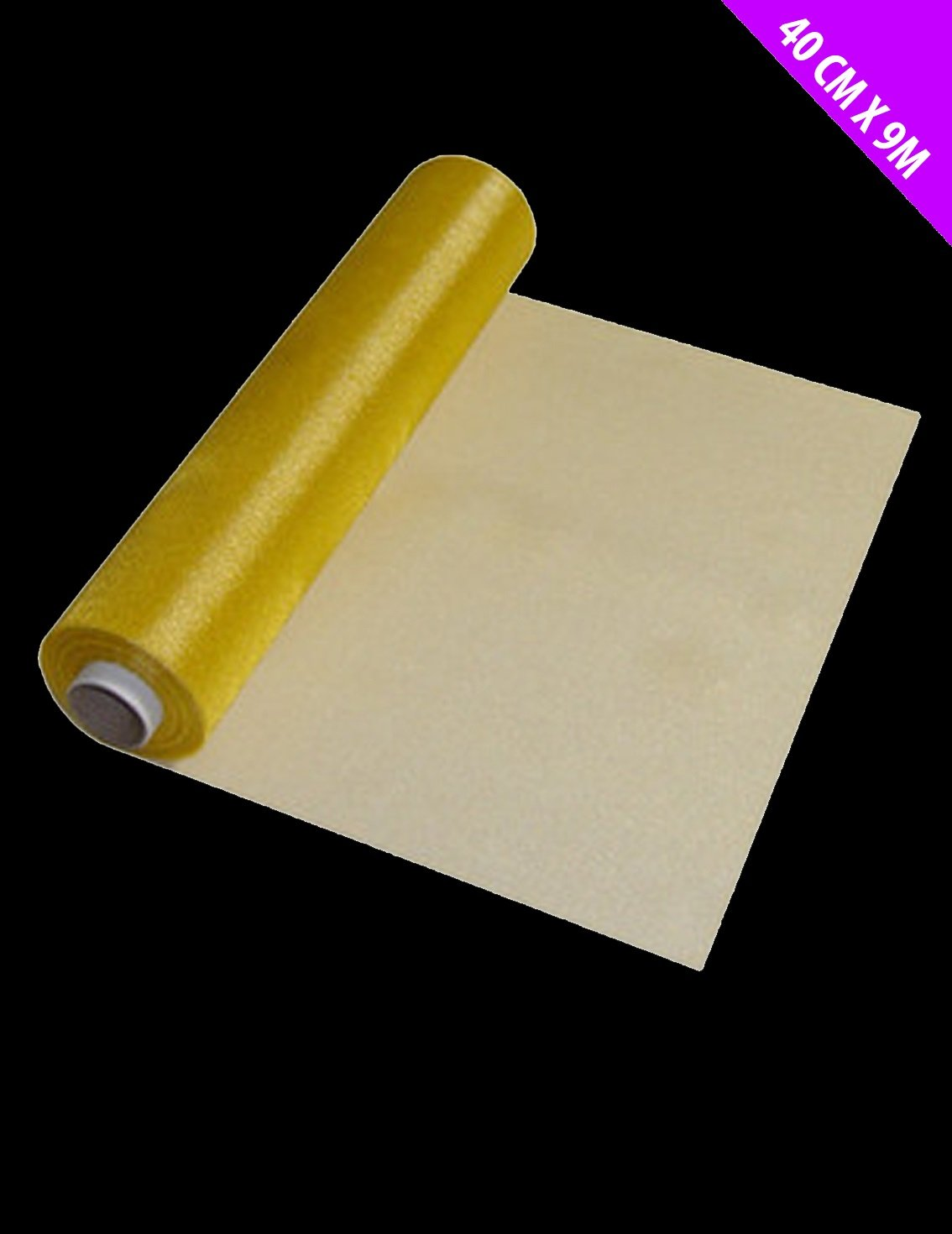 40cm x 9M GOLD Organza Stoff - für Hochzeitsdekoration / Stuhl Covers [Spielzeug] CHRISTMAS SHOP