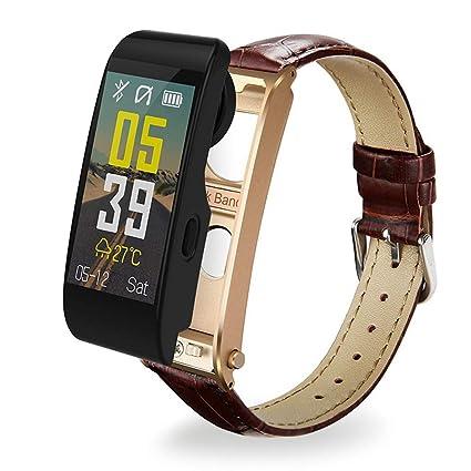 VERYMIN Reloj Inteligente 2 en 1 Smart Watch Bluetooth Headset ...