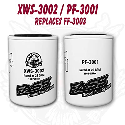FASS Titanium Series Fuel Filter Package XWS-3002 / PF-3001 | Replaces FF-3003: Automotive