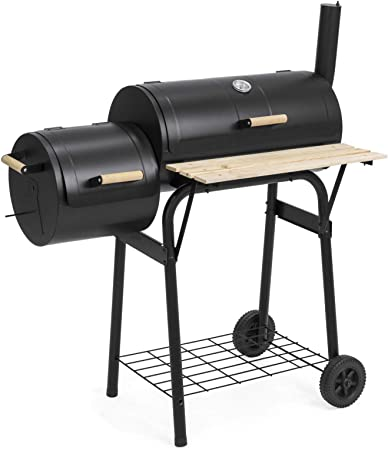 Large BBQ Barbecue Steel Charcoal BBQ Grill Outdoor Patio Garden Grid Open-top
