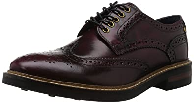 8411afc2045d5 Base London Woburn Hi Shine Bordo Leather Mens Formal Brogue Casual Shoes  Boots-7