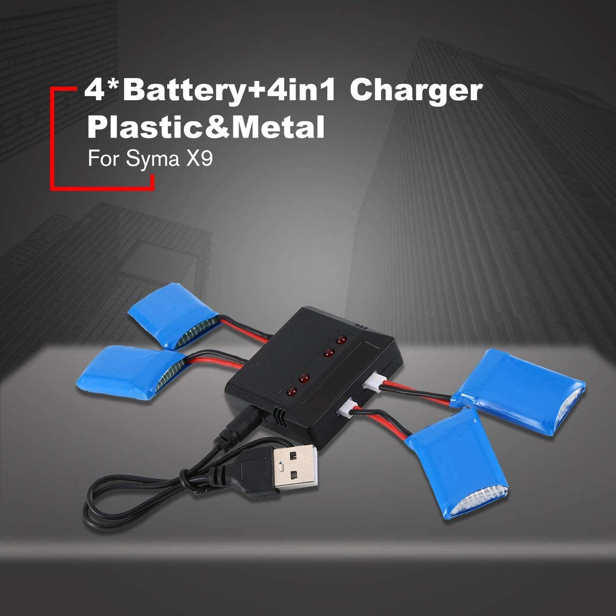 Monllack 3.7V 600MAH Rechargeable Battery Lipo Battery Rc Lithium Battery Car Set With Protective Board For Syma X9 Flying Car