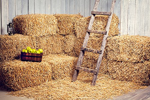 Kate 7x5 ft Yellow Fall Photography Backdrops Haystack for Halloween Background Photo Booth Props ()