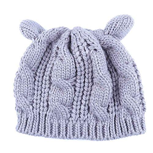 6 Beanie Wool Knit Qualilty Cat Winter Sci 1 Ear Women Cap 0wqUEFv