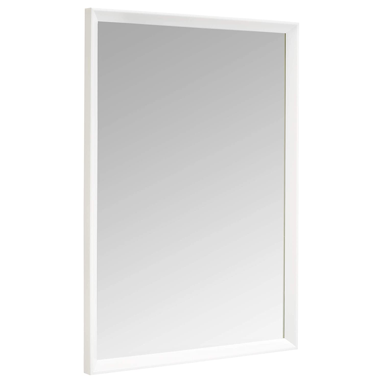 "AmazonBasics Rectangular Wall Mirror - 20"" x 28"", Peaked Trim, White"