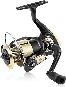 Plegable Manija del Carrete De Pesca Spinning Carretes Ultra ...
