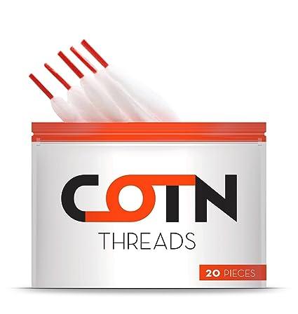 Algodón Vape Orgánico COTN THREADS para resistencias de 3 mm – 20 piezas de algodón ecológico para cigarrillos electrónicos ¡Lo último en ...