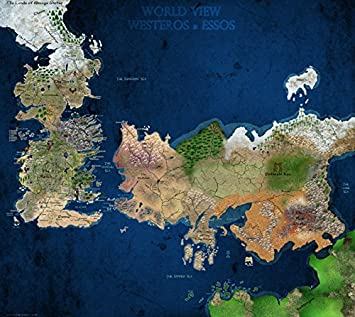 game of thrones seven kingdoms map in colour tv wall