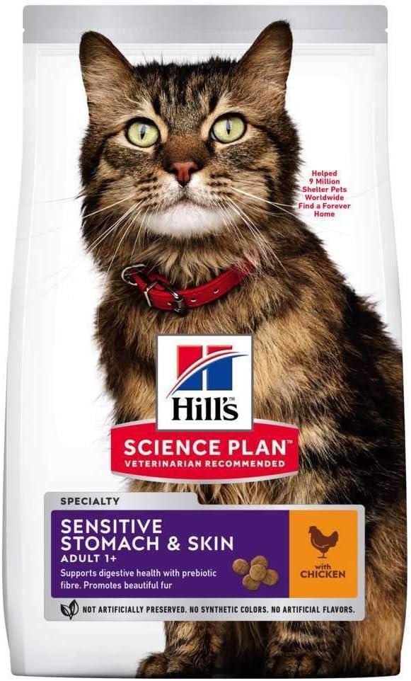 Hills Scie Hsp Feline Adult Sensitive Stomach Skin 1,5Kg 1500 g