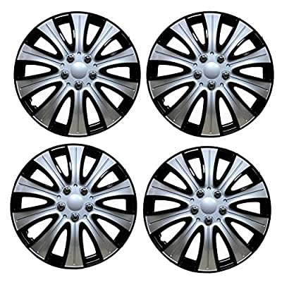 Tampa Hubcaps Black and Silver Wheel Covers (14, Black & Silver): Automotive