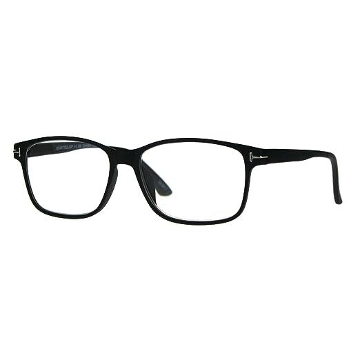 eaf6b839f8b Amazon.com  Mens Narrow Rectangular Thin Plastic Reading Glasses ...
