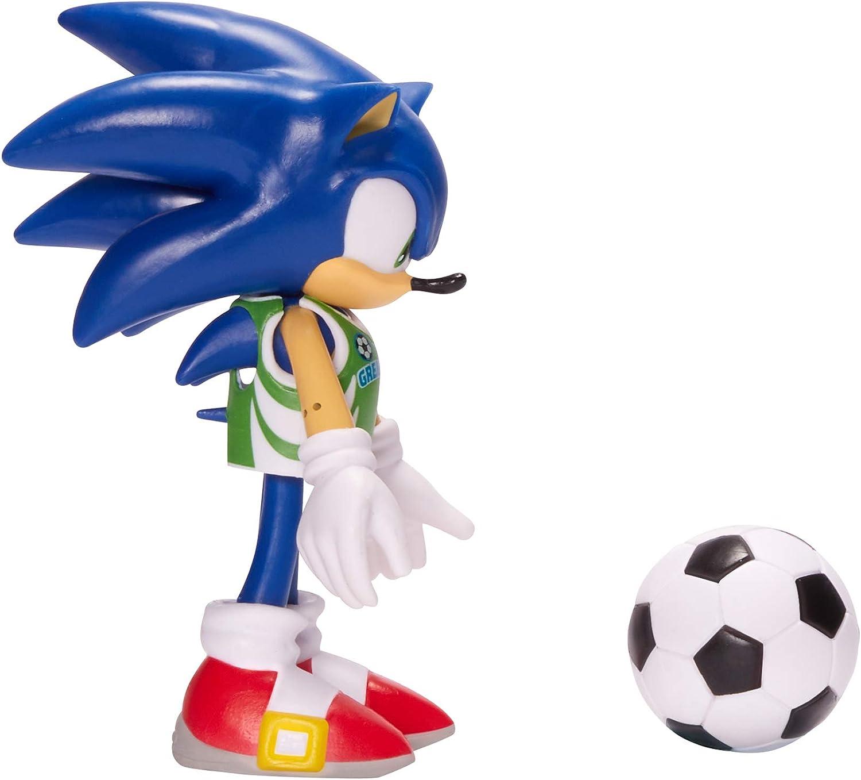 SONIC THE HEDGEHOG 4-Inch Soccer Action figure da collezione giocattolo