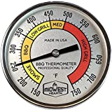 "Midwest Hearth Professional Thermometer for Kamado Style Charcoal Grills (3"" Dial)"