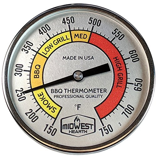 Primo Thermometer - Midwest Hearth Professional Thermometer for Kamado Style Charcoal Grills (3