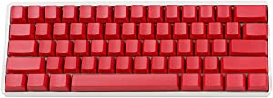 Side-Printed Thick PBT OEM Profile 61 ANSI Keycaps for MX Switches Mechanical Keyboard (Red)(Only Keycap)