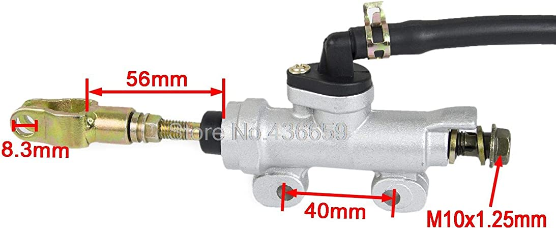 For Quad Dirt Pit Bike ATV Buggy 40mm Rear Brake Master Cylinder Pump Reservoir