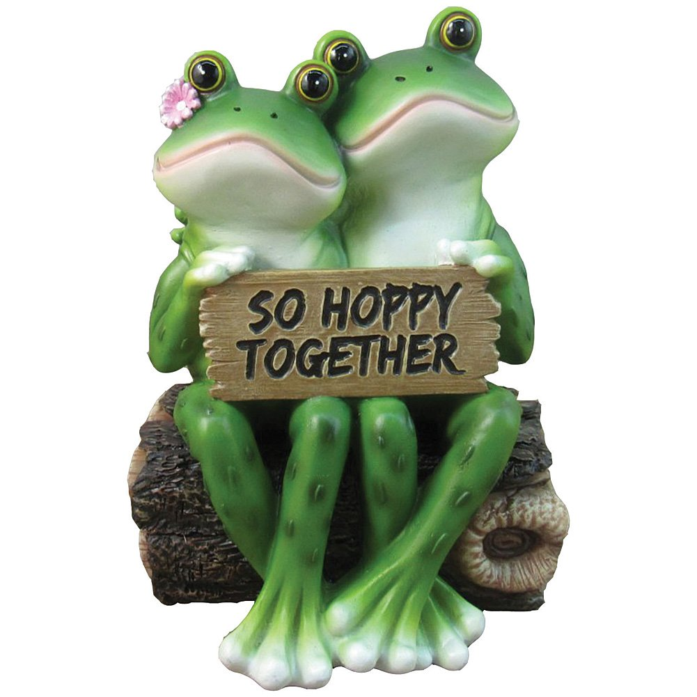 amazon com happy frog couple so hoppy together fun decor figurine