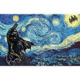 Batman Starry Night Art Print