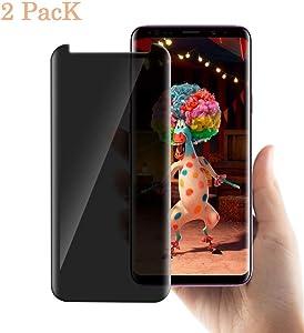 Galaxy S8 Plus Privacy Screen Protector, GPROVA [Anti Glare] 3D Curve Edge Anti-Spy Anti-Scratch Bubble Free Case Friendly Easy Installation Tempered Glass for Samsung Galaxy S8 Plus