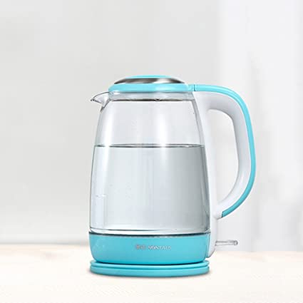CAIXIA Agua Pot y Hervidor Calentador eléctrico de Blu-ray para el hogar de cristal