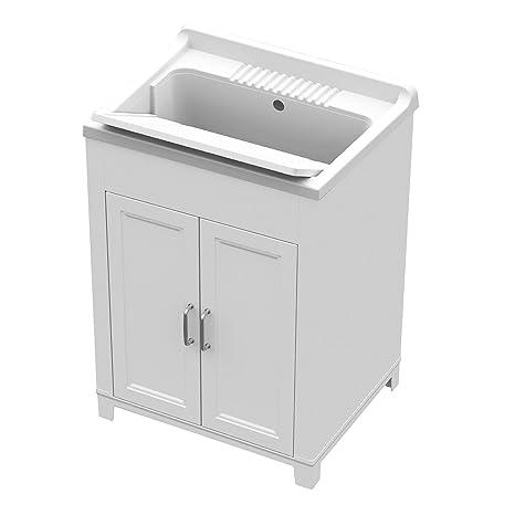 Lavelli Per Esterno In Plastica.Mobile Lavatoio Con Lavello 60 X 50 X 84 Cm