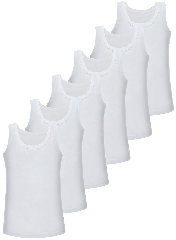 Ragazzo Bianco 6 Pezzi Canottiera LOREZA 92 cm-98 cm