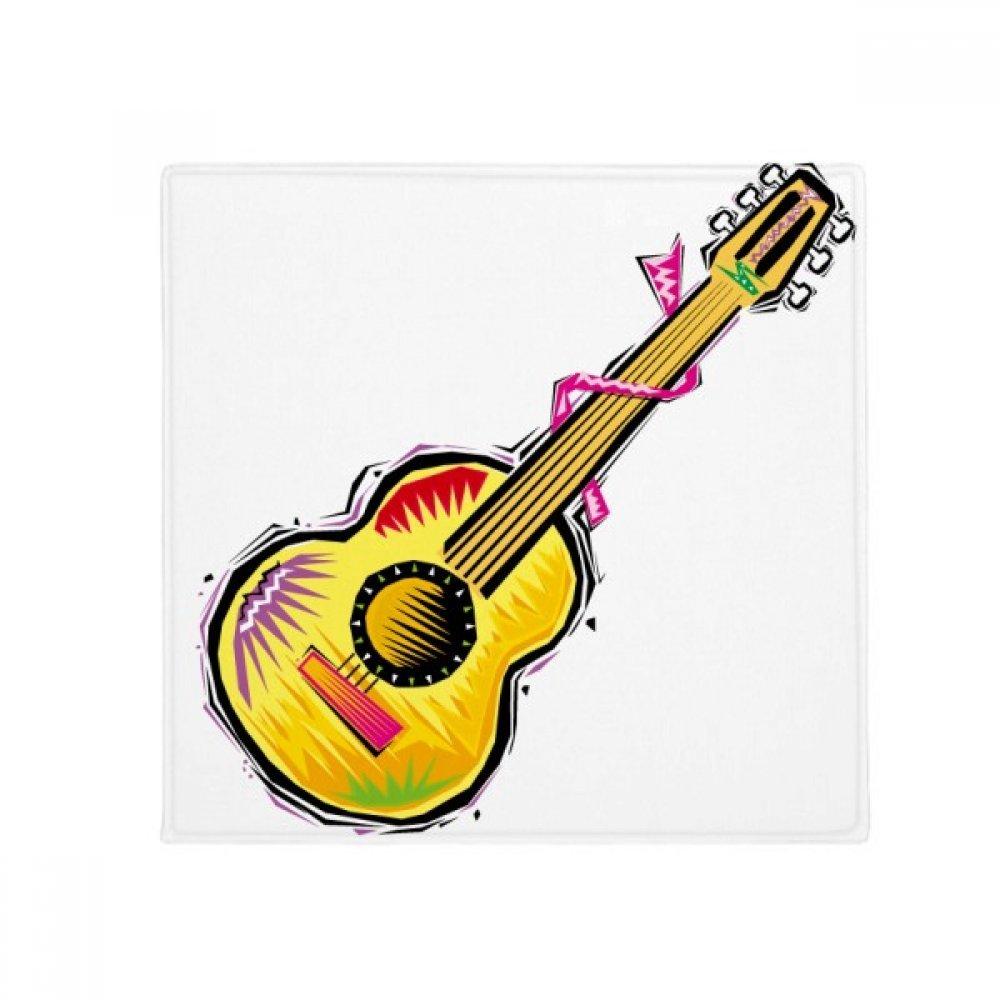 DIYthinker Instrument Guitar Mexicon Element Illustration Anti-Slip Floor Pet Mat Square Home Kitchen Door 80Cm Gift