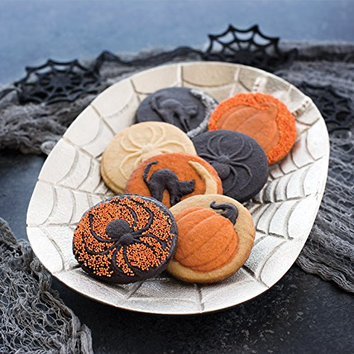 Nordic Ware 01260 Spooky Cast Cookie Stamps, 3-inch rounds, Silver