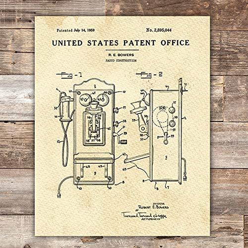 (Telephone Patent Print Wall Art - Unframed - 8x10)