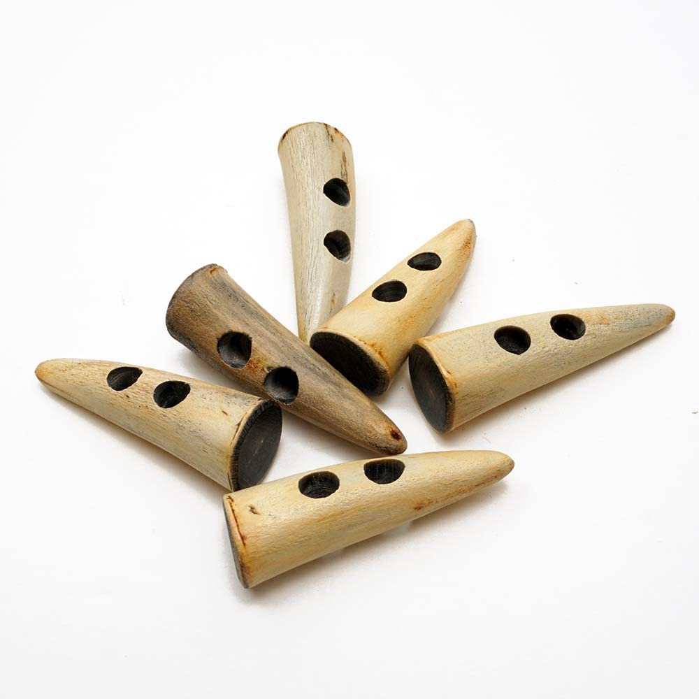 MAY-HB-9337 50mm Natural Horn Toggle Button by 2 pcs