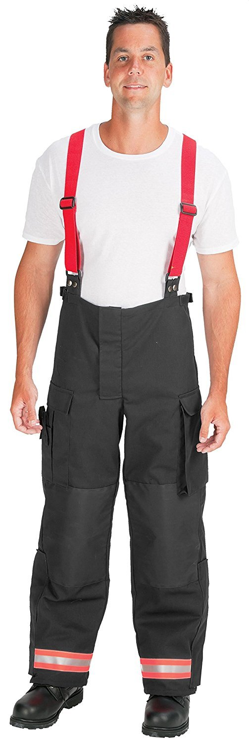 Inseam 30 Polyester//Cotton Black with 2 Red//Orange-Silver-Red//Orange Triple Trim 34 Waist Size TOPPS SAFETY EP01R1139-34-30 EMS Pants