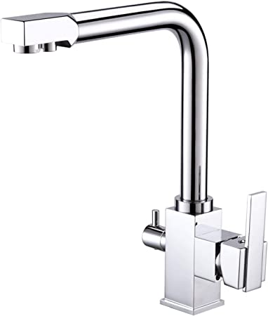 Swivel Spout 3 Way Kitchen Faucet Filter Drink Hot Cold Water Sink Mixer Tap 195