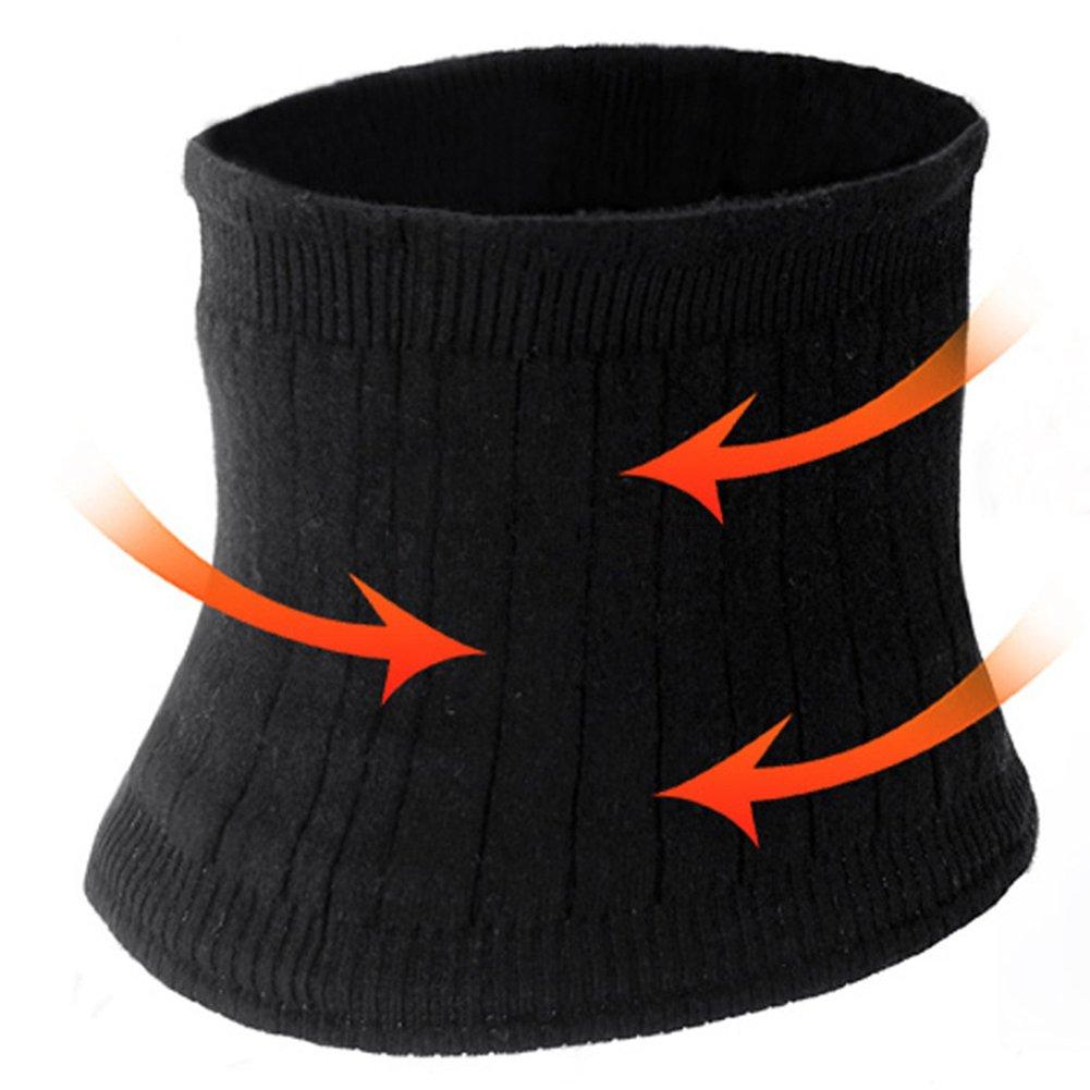 furnido invierno doble engrosamiento transpirable mujeres hombres Cachemira Fitness banda el/ástica de calentador de suave cintura cintur/ón cintura abdominal Apoyo Vientre Cintura Faja.