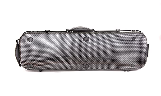 Tonareli Violin Oblong Fiberglass Case- Checkered Special Edition VNFO 1007 4/4