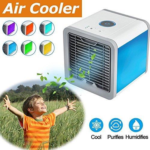 Enfriador de aire, 3-en-1espacio Personal enfriador de aire Mini aire acondicionado portátil ventilador, purificador de...