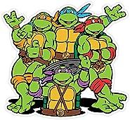 """Teenage Mutant Ninja Turtles Cartoon Vinyl Sticker Decal 5""""x5"""" Car Bumper"""