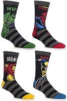 SockShop Men's 4 Pair Marvel Comics Mix Hulk, Spider-Man, Ironman & Wolverine Socks
