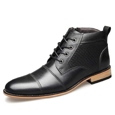 YUNLI Zapatos de Cuero Casual de los Hombres Zapatos Planos con ...