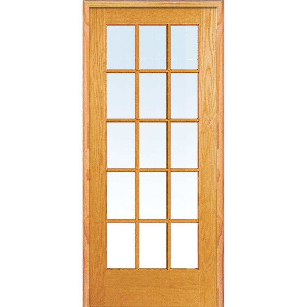 National Door Company Za09305l Primed Mdf 15 Lite Clear Glass Left