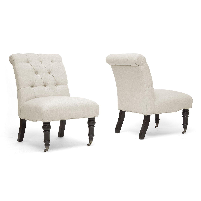 amazoncom baxton studio belden linen modern slipper chair beige  - amazoncom baxton studio belden linen modern slipper chair beige set of kitchen  dining