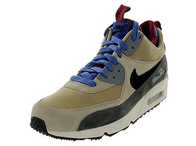 quality design f5f73 34616 Nike Mens Air Max 90 Mid Bamboo Newsprint Team Red Black 616113-