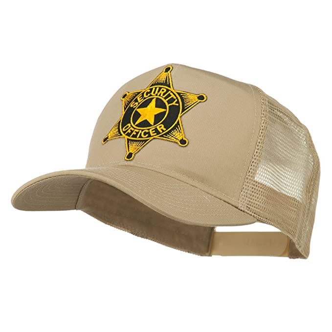 479593e08b79c0 Security Officer Star Patched Mesh Back Cap - Khaki OSFM at Amazon ...