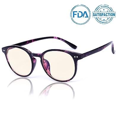 63eb79a788 Amazon.com  SIPHEW Anti Blue Light Glasse-0.0 Magnification